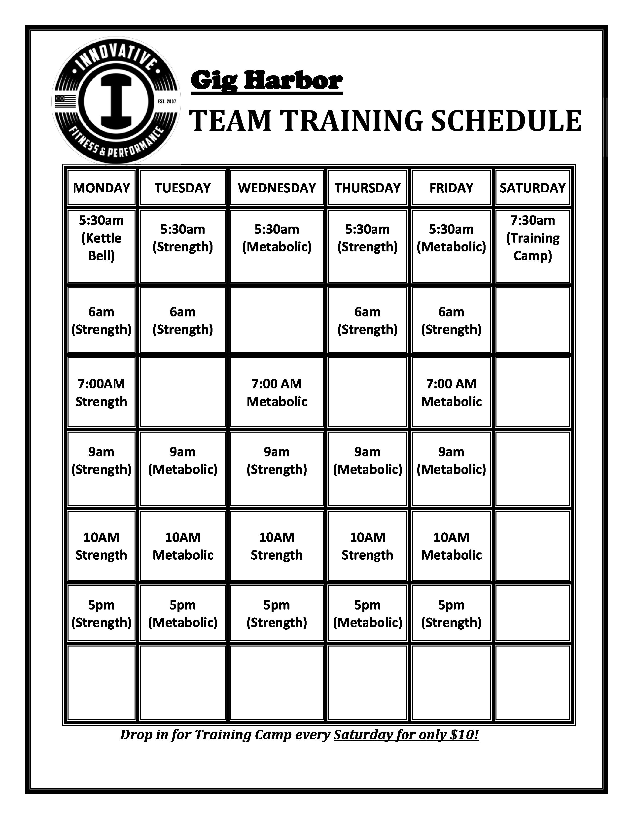 GH Team Training Schedule -july 2021copy